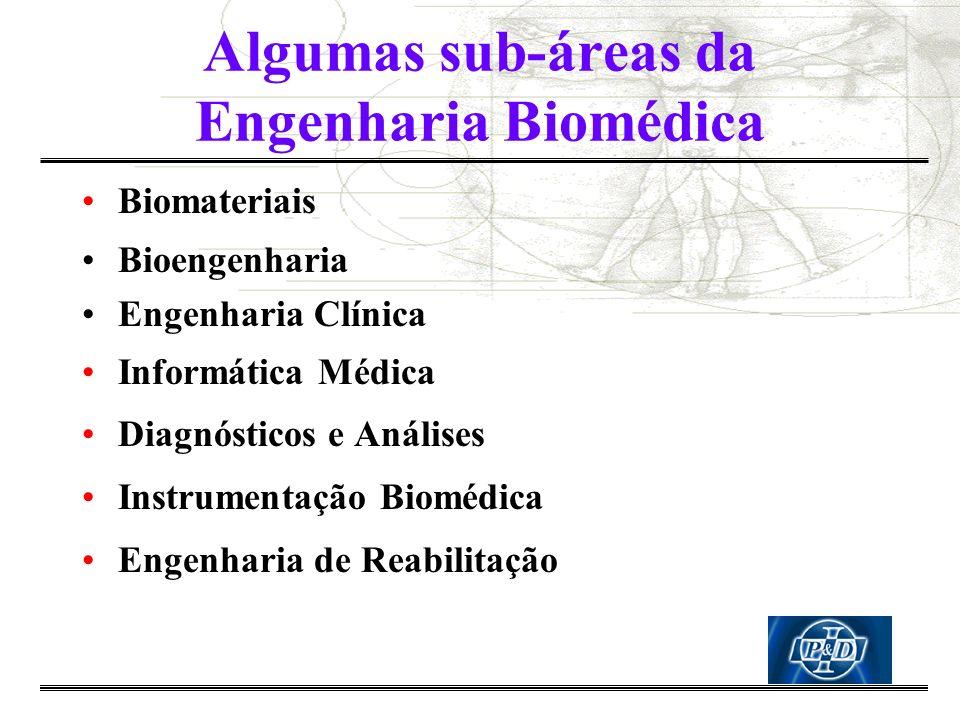 Algumas sub-áreas da Engenharia Biomédica