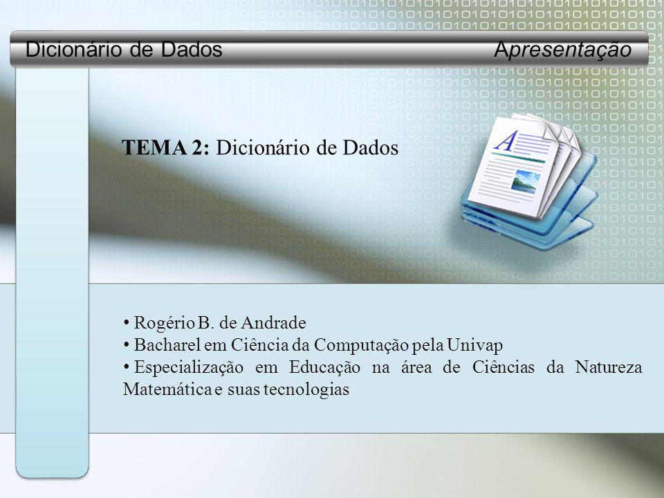 Dicionário de Dados Apresentação