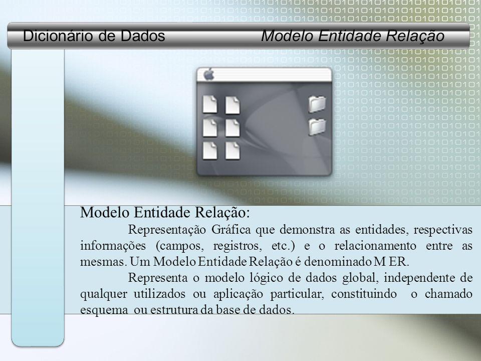 Dicionário de Dados Modelo Entidade Relação