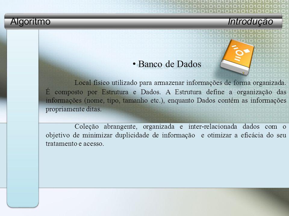 Algoritmo Introdução Banco de Dados