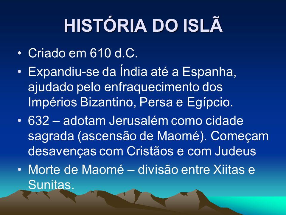 HISTÓRIA DO ISLÃ Criado em 610 d.C.
