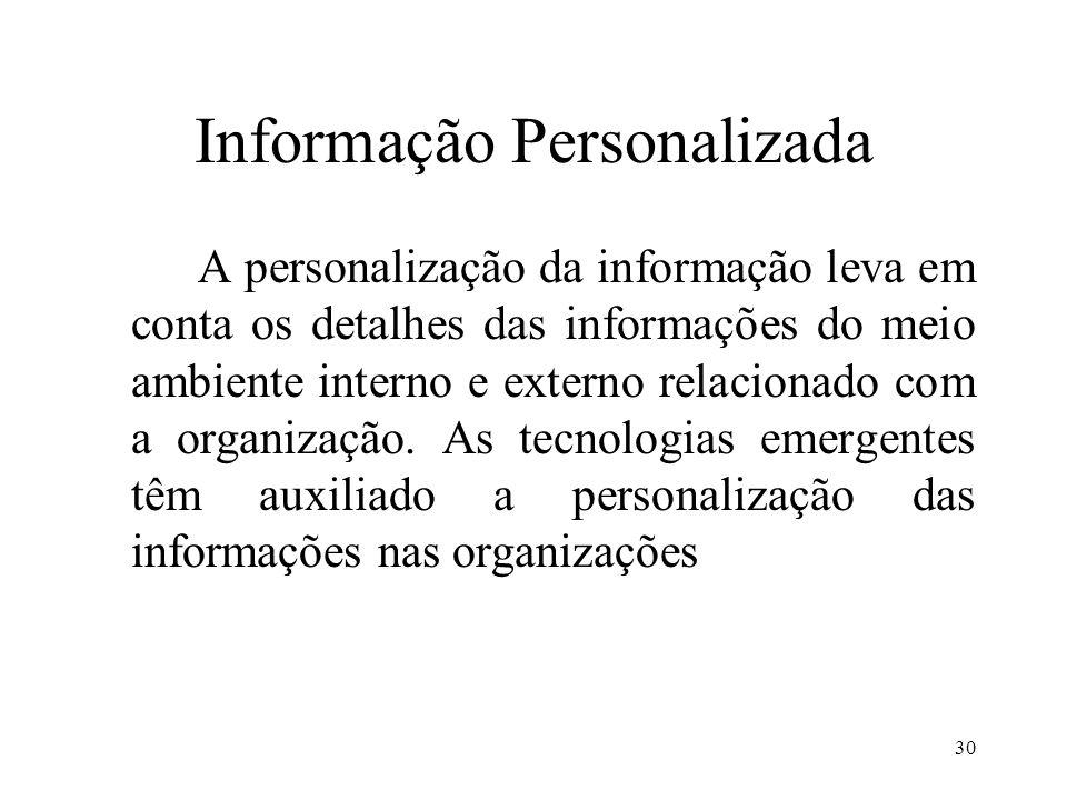 Informação Personalizada