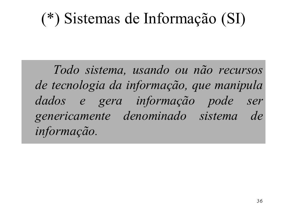 (*) Sistemas de Informação (SI)