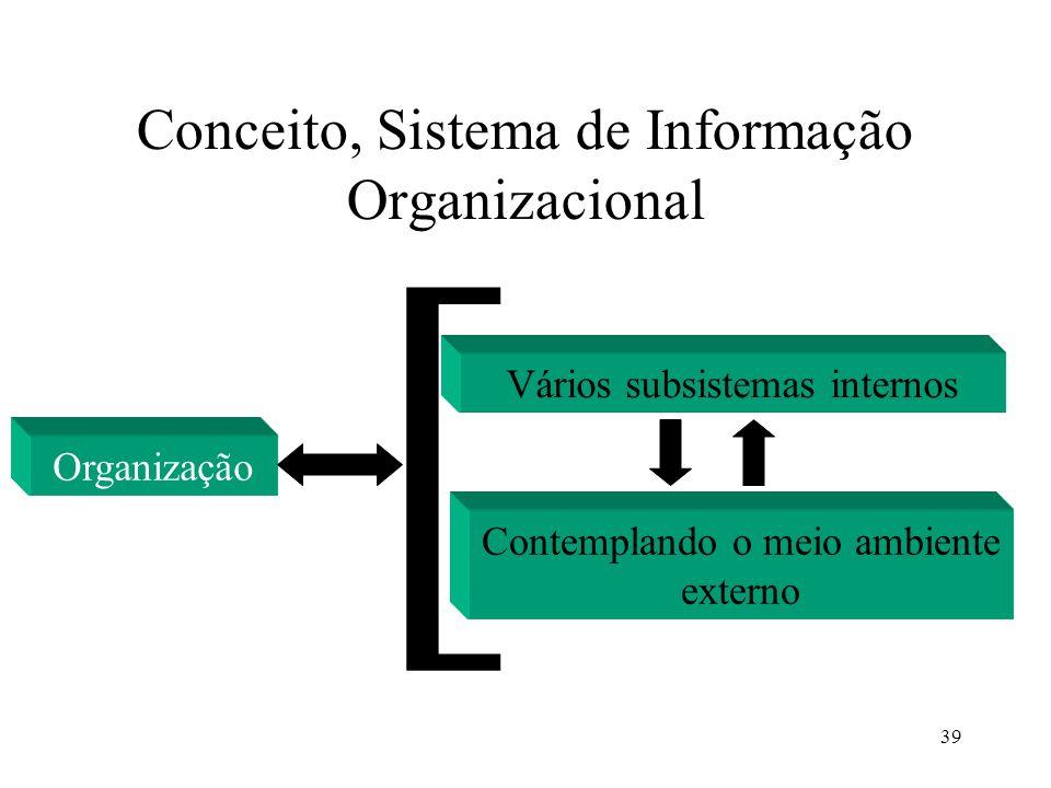 Conceito, Sistema de Informação Organizacional