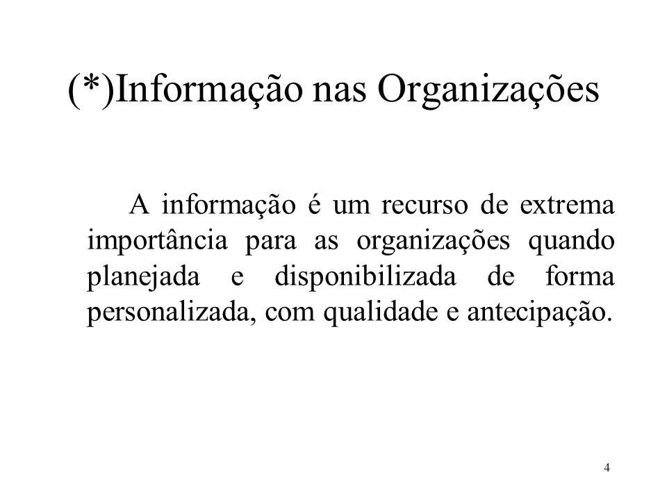 (*)Informação nas Organizações