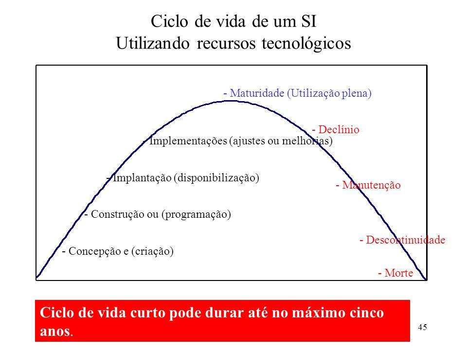 Ciclo de vida de um SI Utilizando recursos tecnológicos