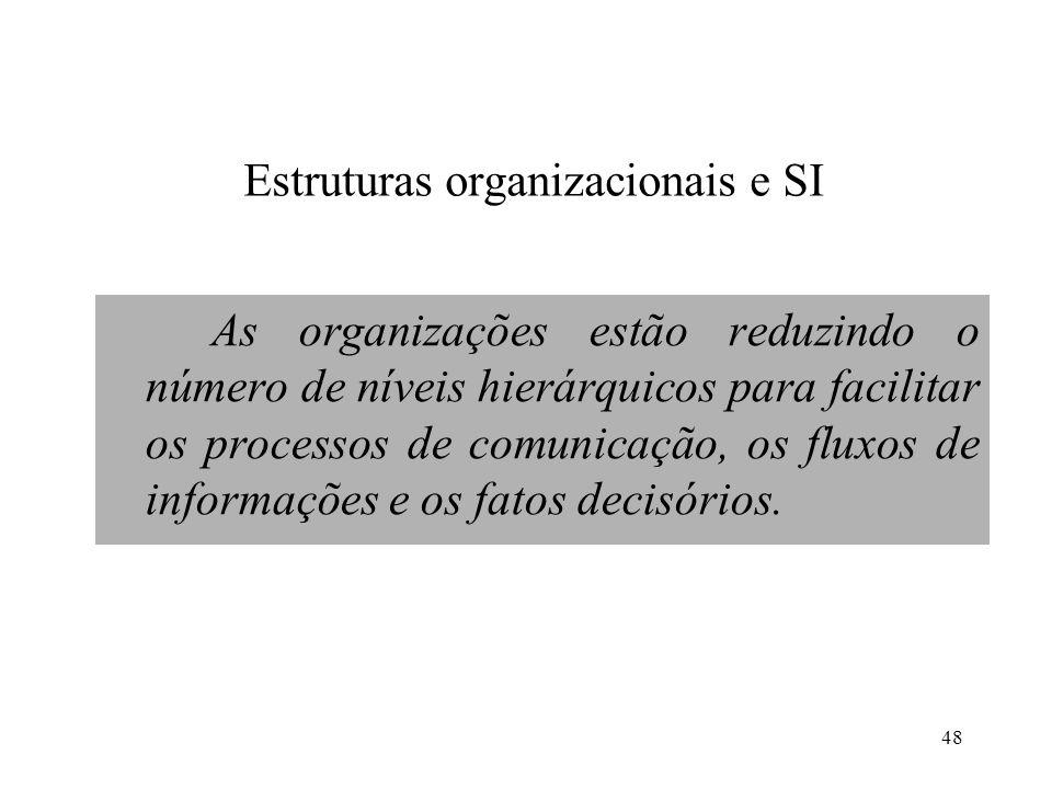 Estruturas organizacionais e SI
