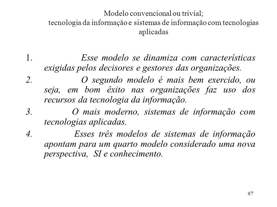 O mais moderno, sistemas de informação com tecnologias aplicadas.