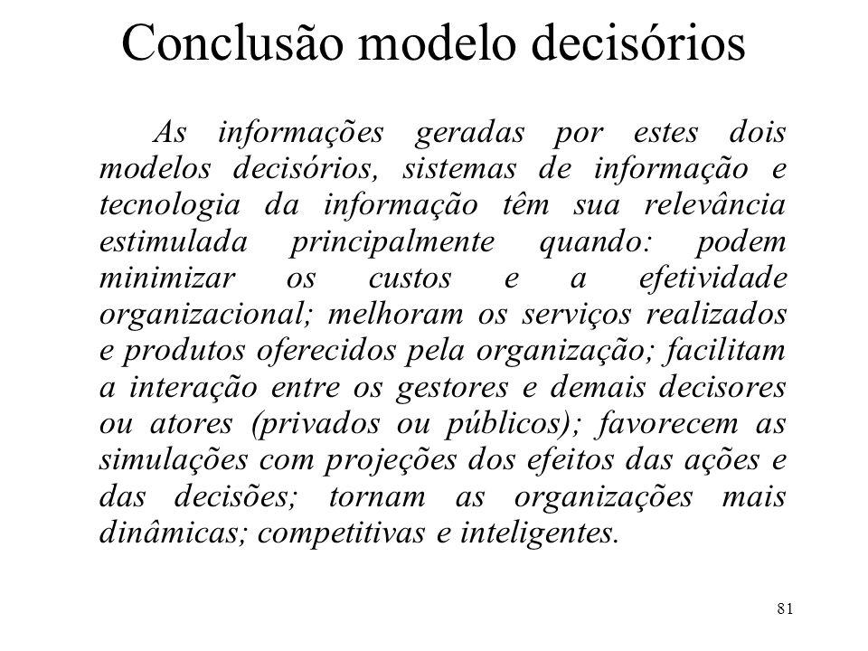 Conclusão modelo decisórios