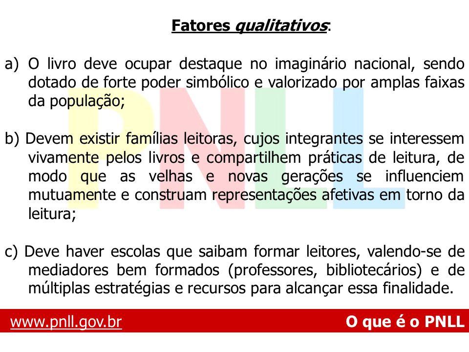 Fatores qualitativos: