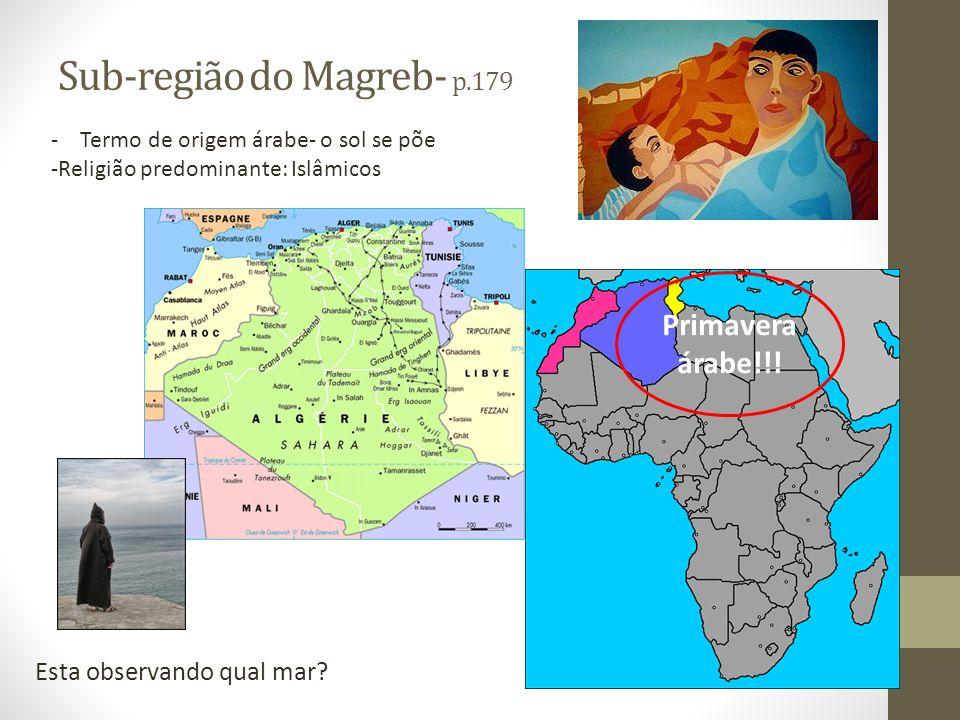 Sub-região do Magreb- p.179