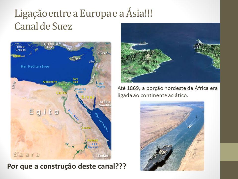 Ligação entre a Europa e a Ásia!!! Canal de Suez