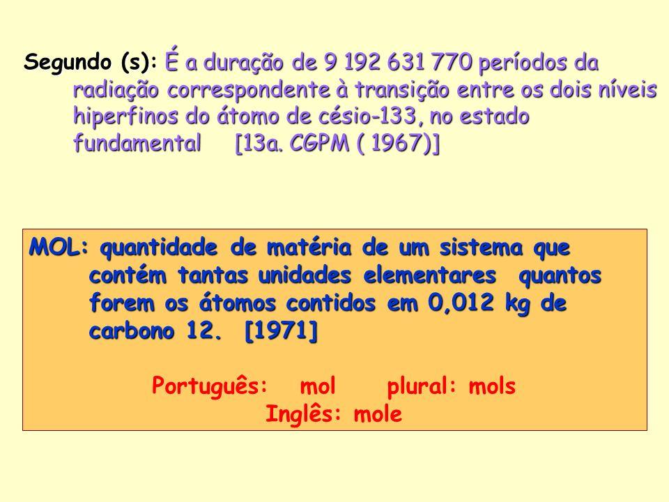 Português: mol plural: mols