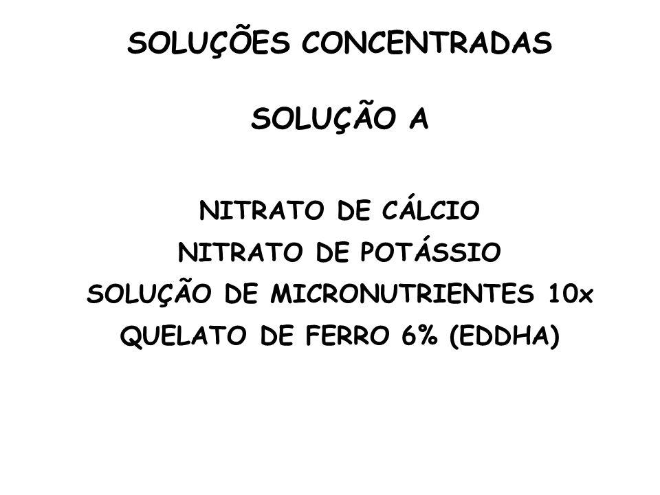 SOLUÇÕES CONCENTRADAS SOLUÇÃO A