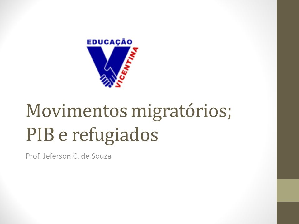Movimentos migratórios; PIB e refugiados