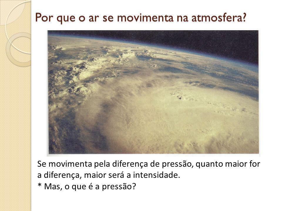 Por que o ar se movimenta na atmosfera