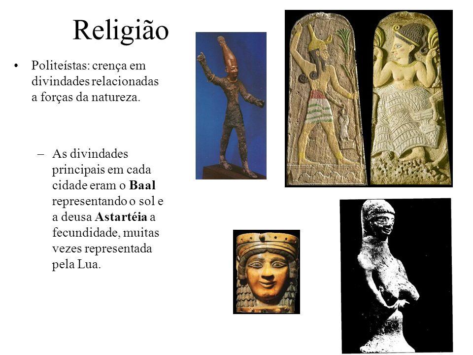ReligiãoPoliteístas: crença em divindades relacionadas a forças da natureza.