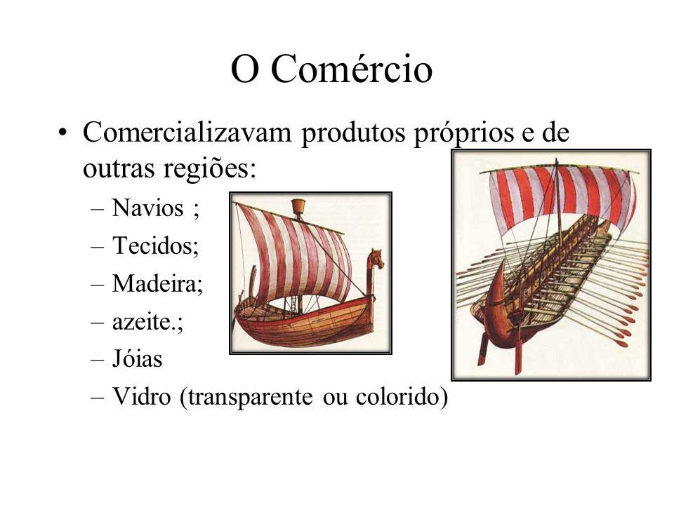 O Comércio Comercializavam produtos próprios e de outras regiões: