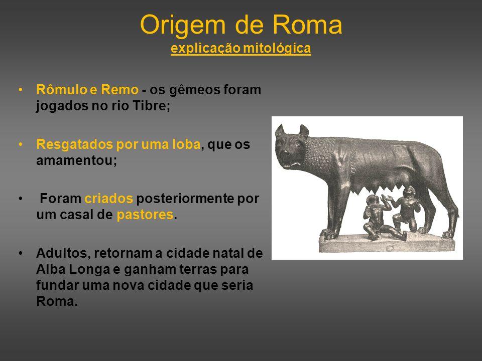 Origem de Roma explicação mitológica