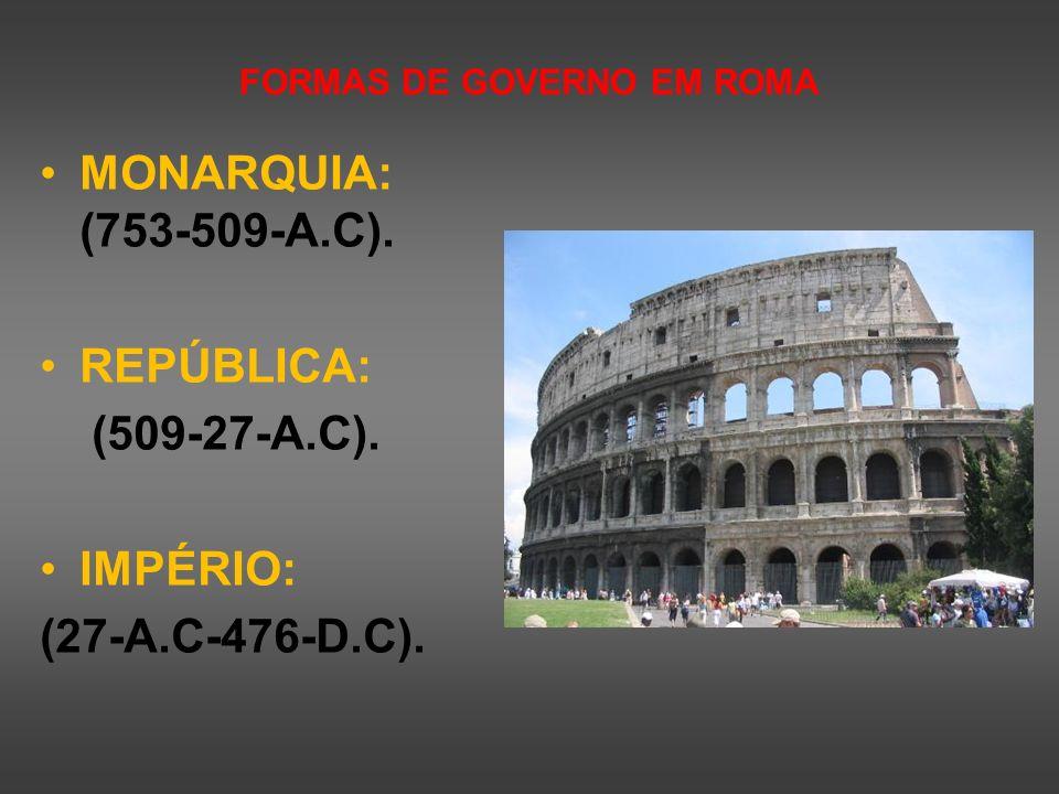 FORMAS DE GOVERNO EM ROMA