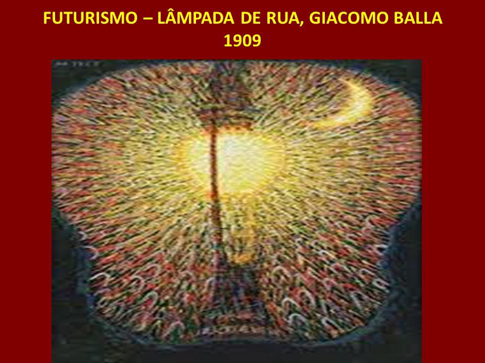 FUTURISMO – LÂMPADA DE RUA, GIACOMO BALLA 1909