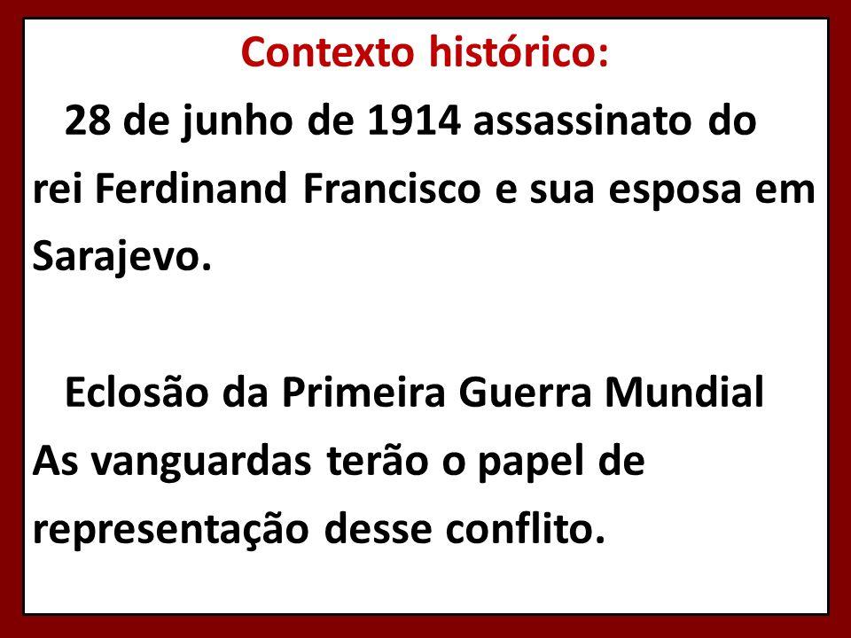 Contexto histórico: 28 de junho de 1914 assassinato do rei Ferdinand Francisco e sua esposa em Sarajevo.