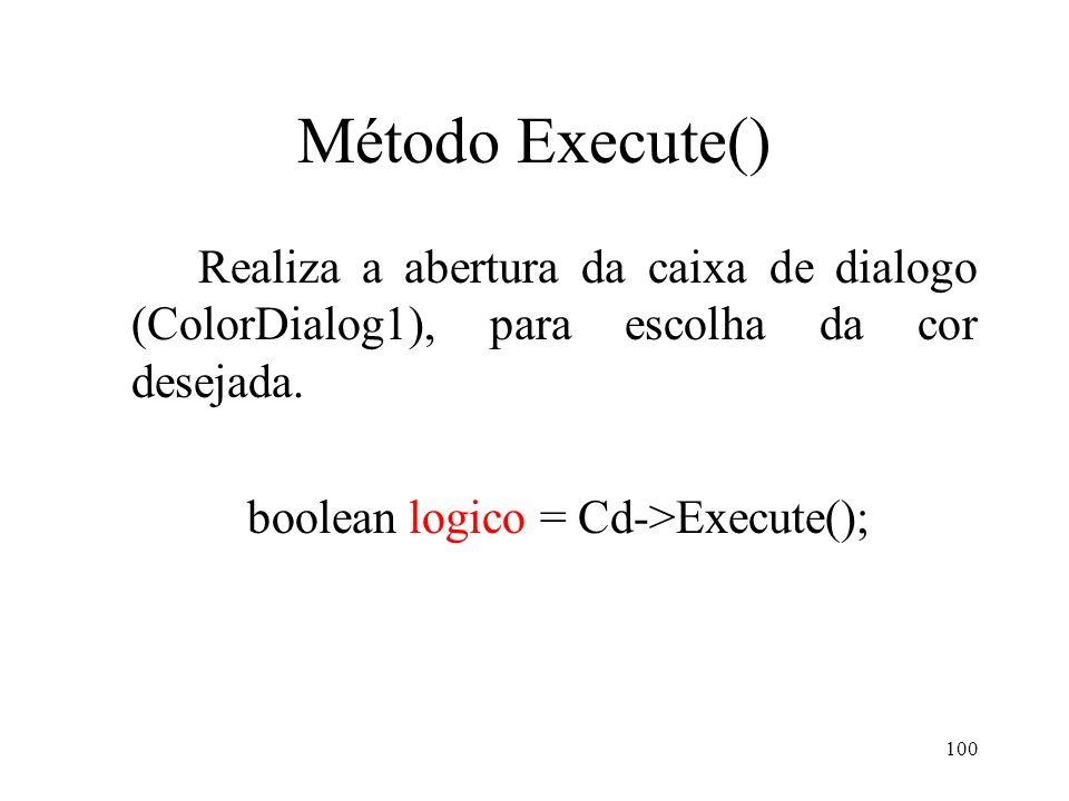 boolean logico = Cd->Execute();