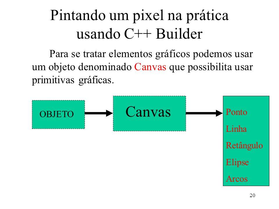 Pintando um pixel na prática usando C++ Builder