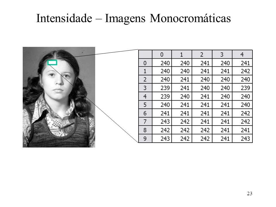 Intensidade – Imagens Monocromáticas