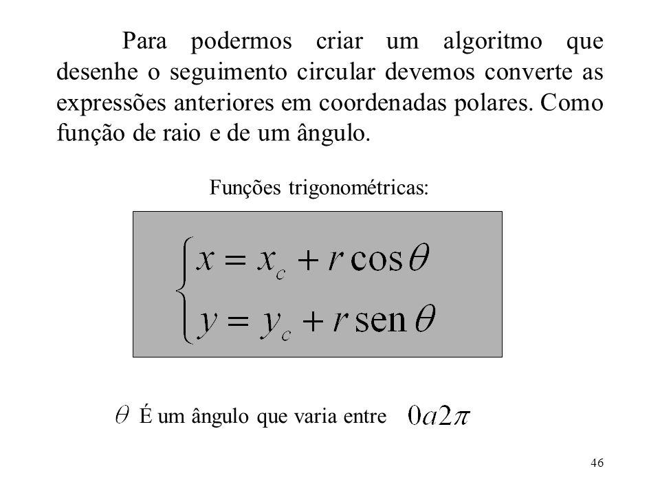 Funções trigonométricas: