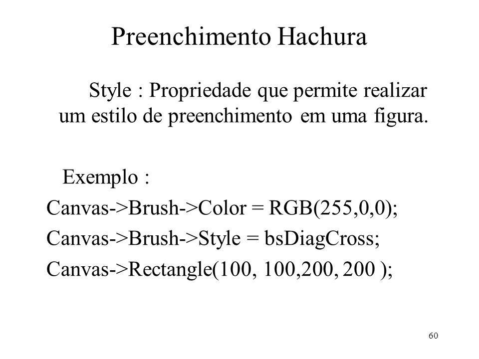Preenchimento Hachura