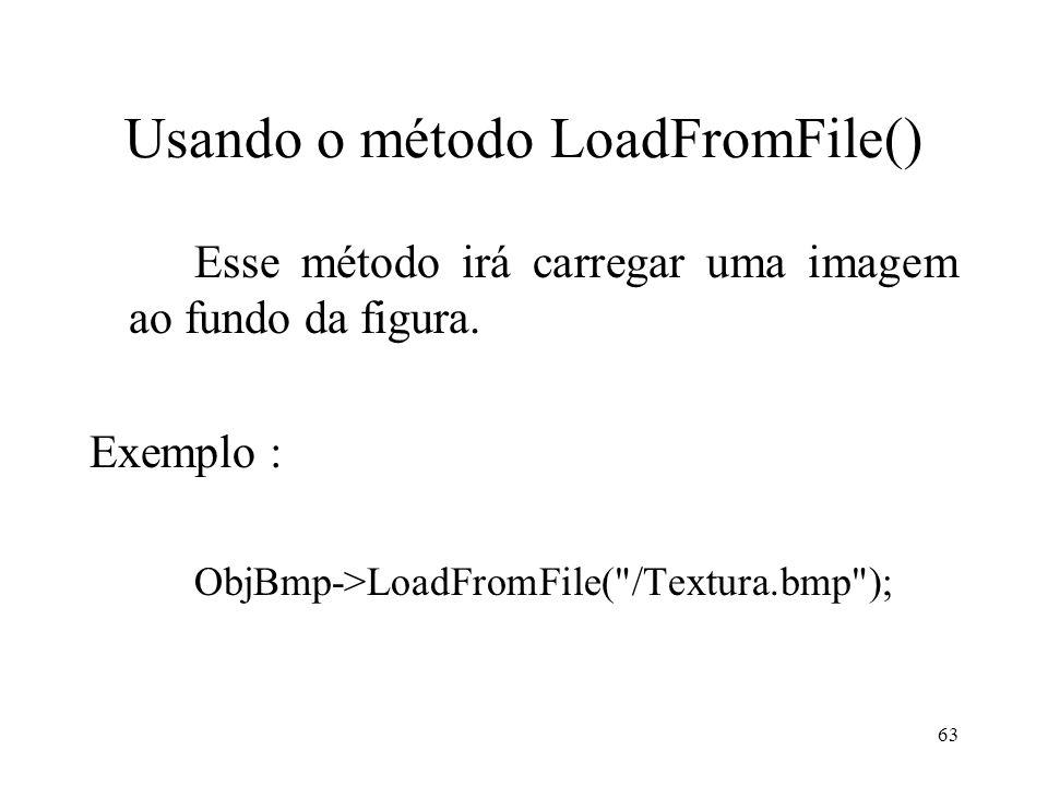 Usando o método LoadFromFile()