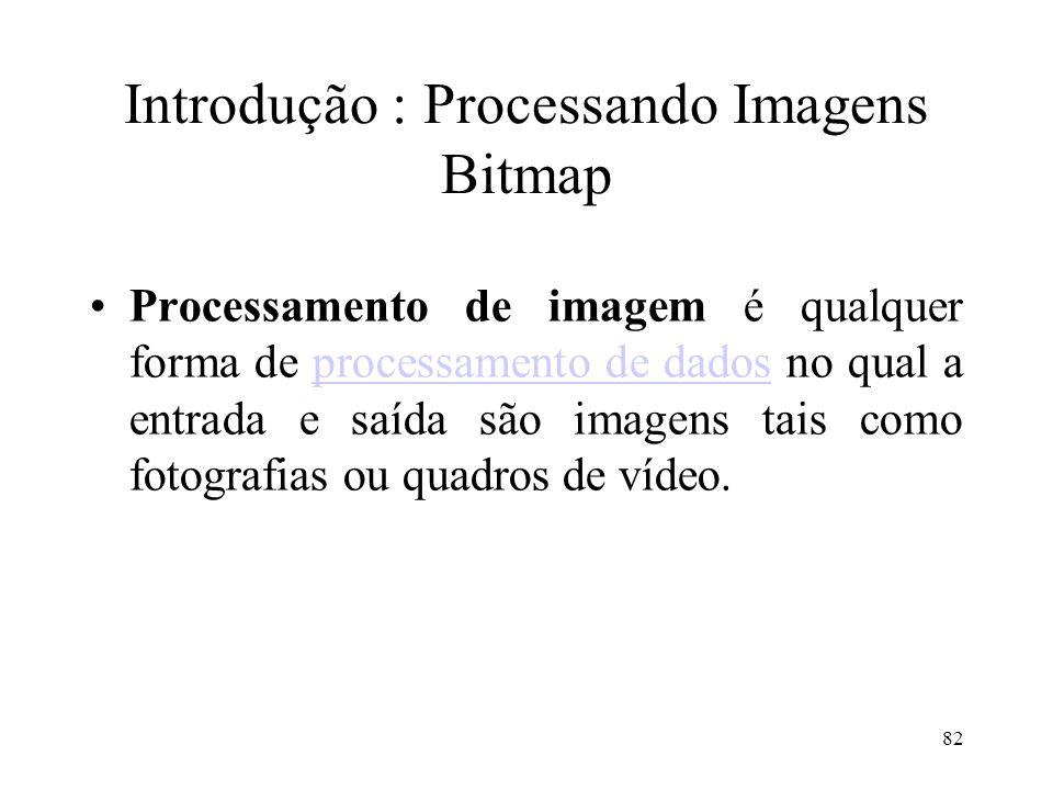 Introdução : Processando Imagens Bitmap