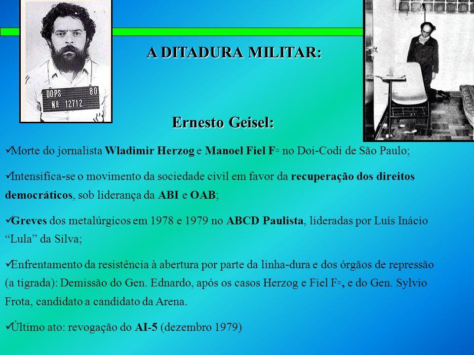 A DITADURA MILITAR: Ernesto Geisel: