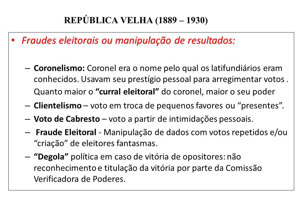 Fraudes eleitorais ou manipulação de resultados: