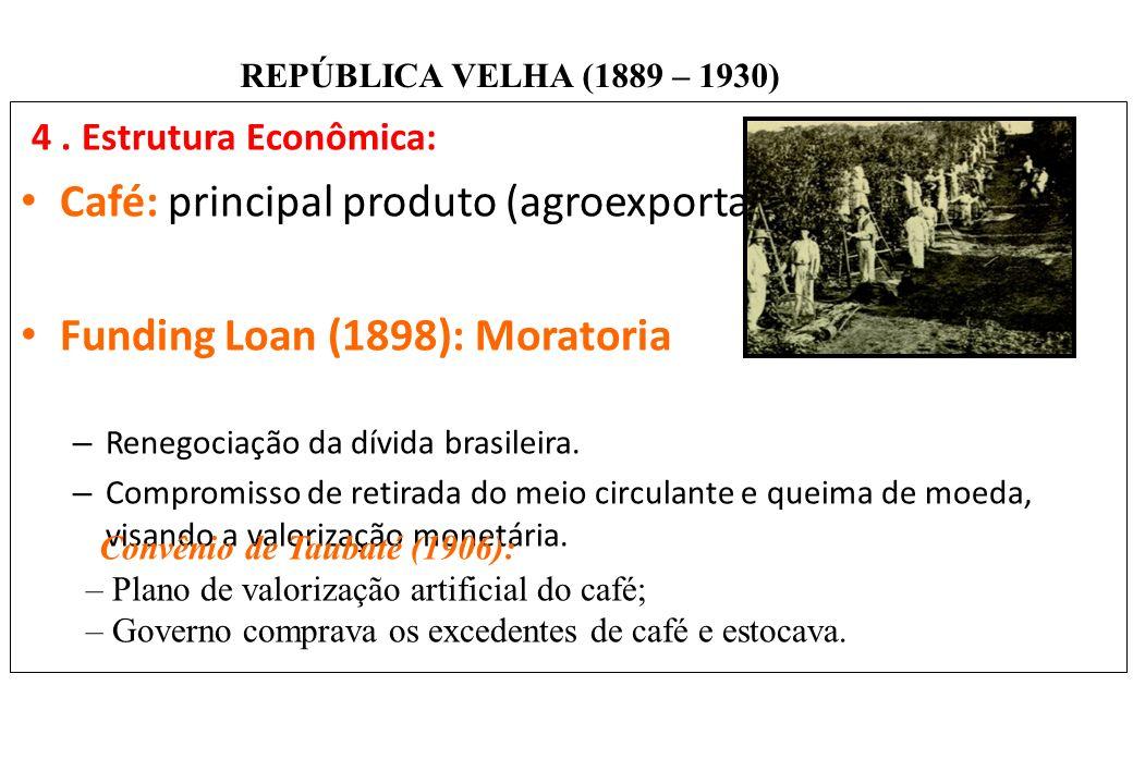 Café: principal produto (agroexportação).