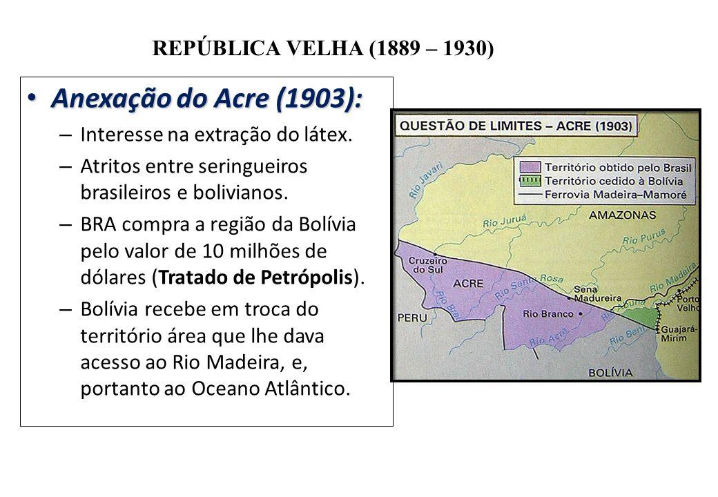 Anexação do Acre (1903): Interesse na extração do látex.
