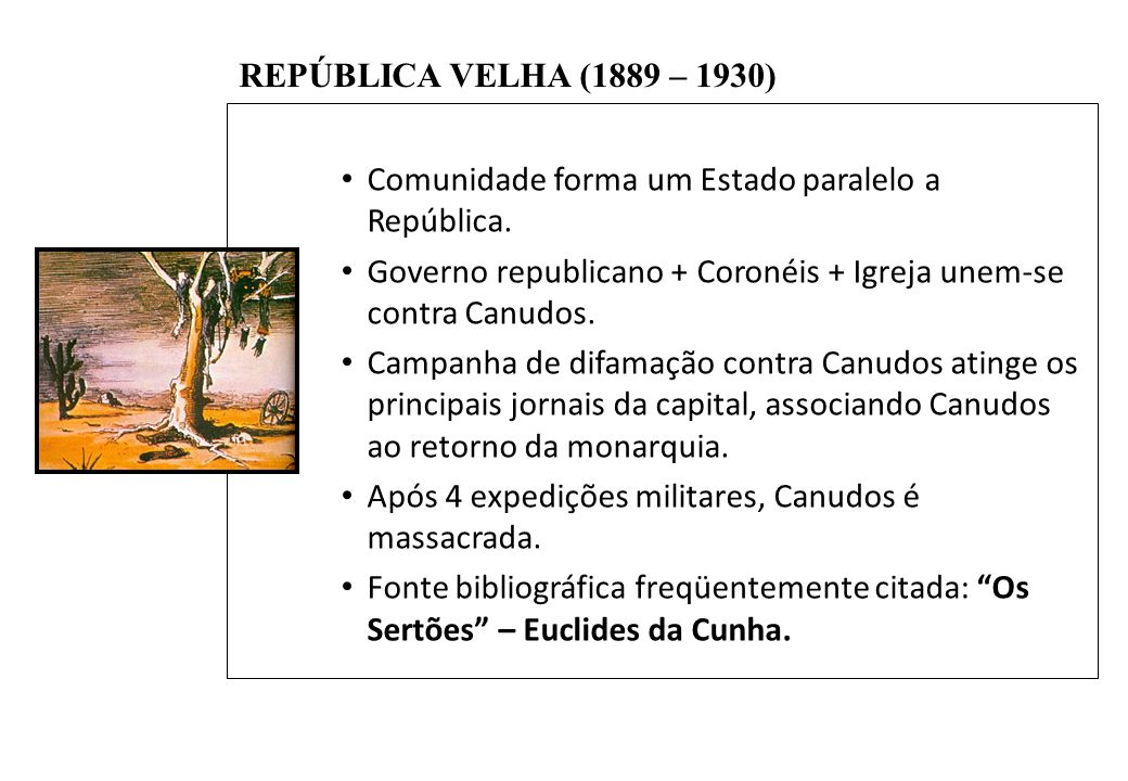 Comunidade forma um Estado paralelo a República.