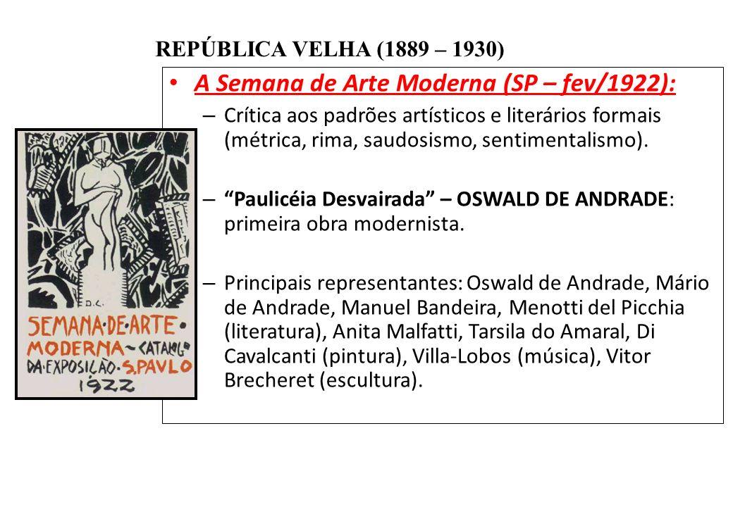 A Semana de Arte Moderna (SP – fev/1922):