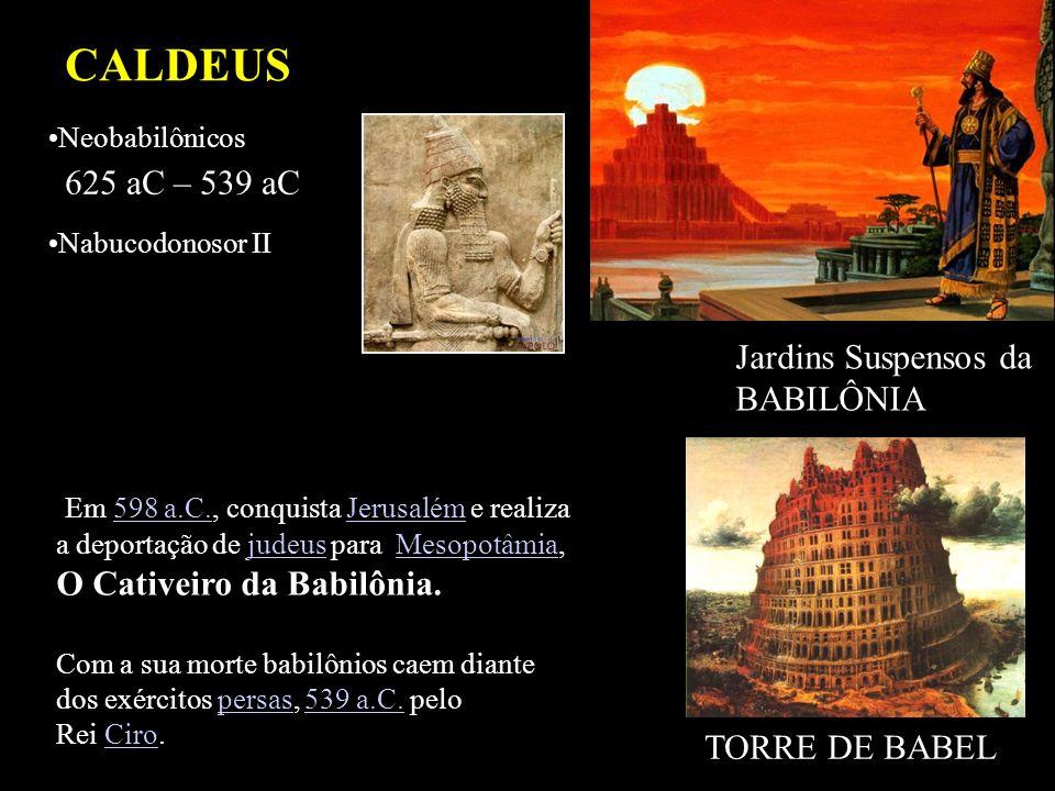 CALDEUS 625 aC – 539 aC Jardins Suspensos da BABILÔNIA