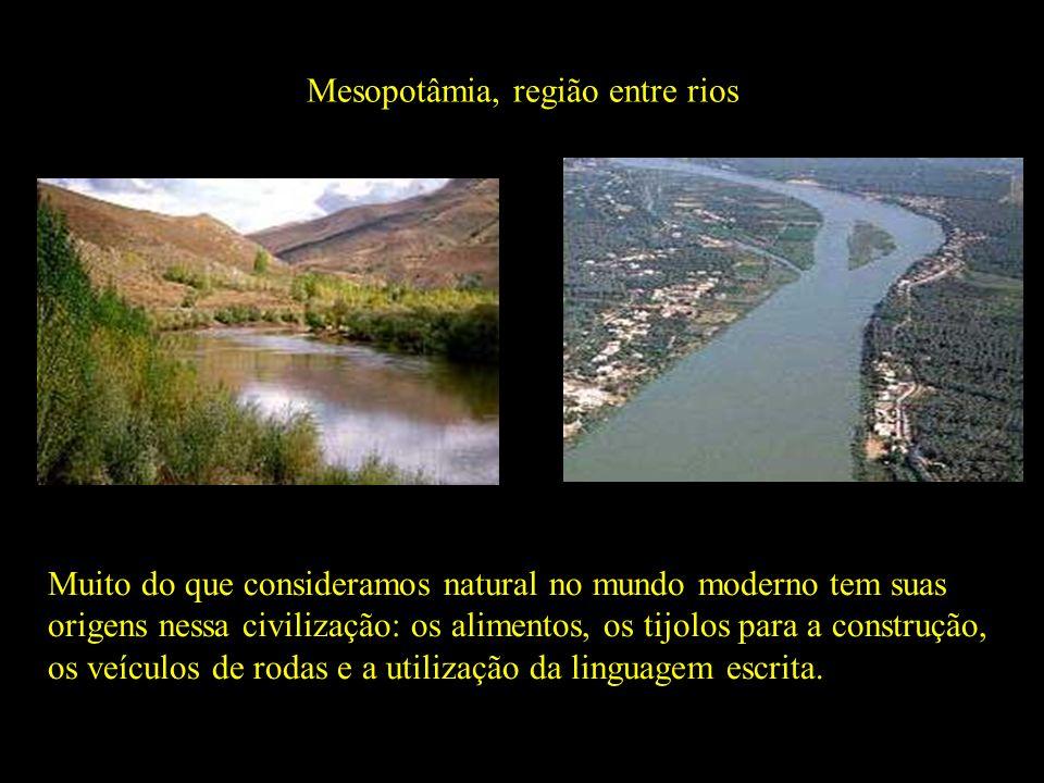 Mesopotâmia, região entre rios