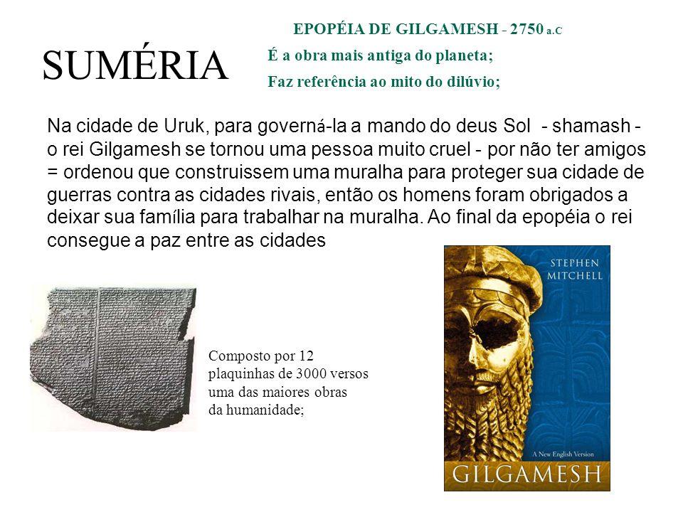EPOPÉIA DE GILGAMESH - 2750 a.C