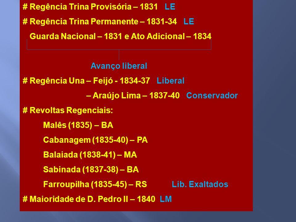 # Regência Trina Provisória – 1831 LE