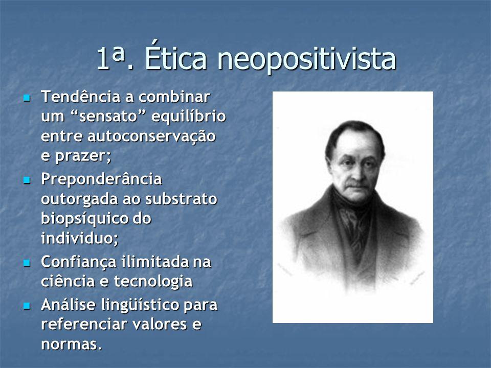 1ª. Ética neopositivista