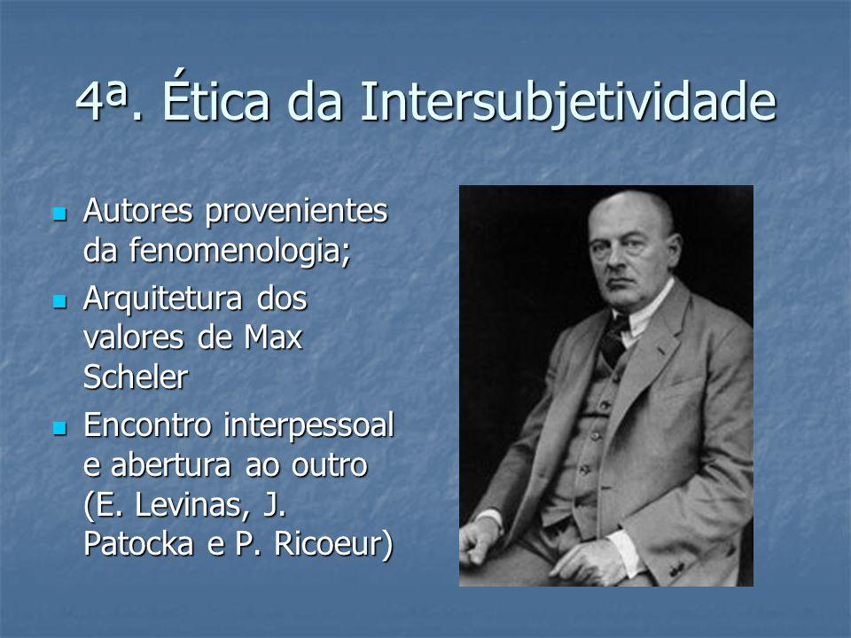 4ª. Ética da Intersubjetividade