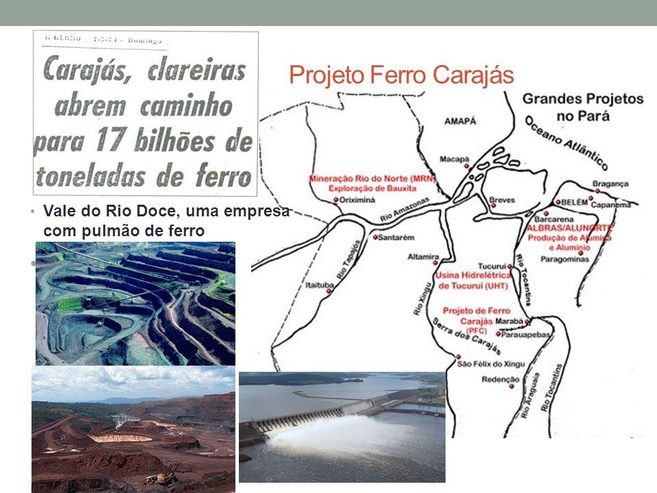 Projeto Ferro Carajás Vale do Rio Doce, uma empresa com pulmão de ferro