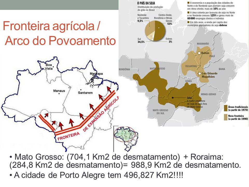 Fronteira agrícola / Arco do Povoamento