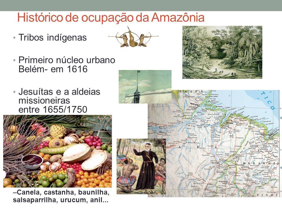 Histórico de ocupação da Amazônia