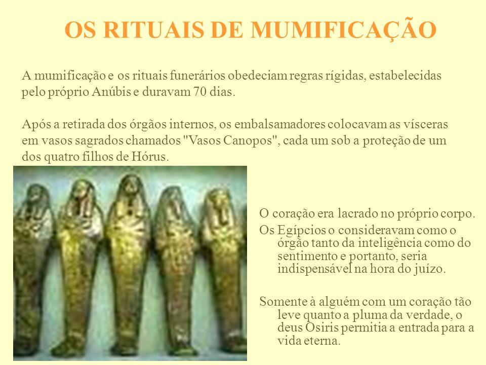 OS RITUAIS DE MUMIFICAÇÃO