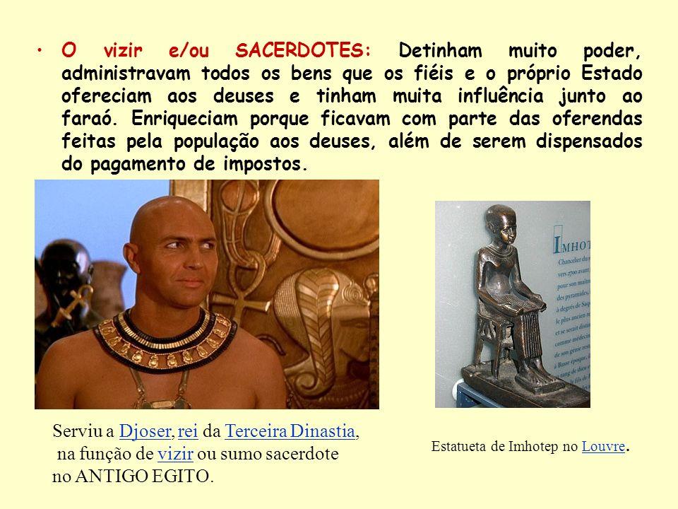 Estatueta de Imhotep no Louvre.